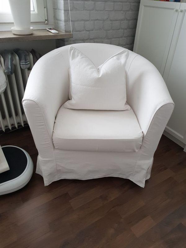 Bequemer Sessel In Naturweiss Bezug Waschbar In Munchen Ikea Mobel