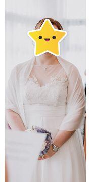 Hochzeitskleid in Beige zu verkaufen