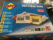 Fritz Box 7490 neuwertig Restgarantie
