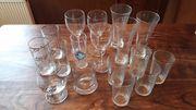 Div Cola-Gläser und andere zu