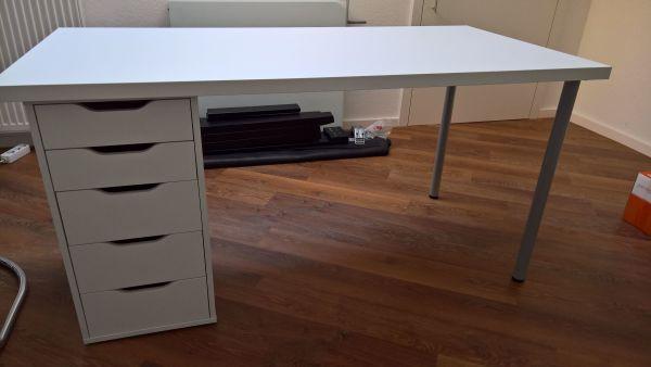 Ikea Schreibtisch Container : Alex schreibtisch wei ikea zum weiß hochglanz